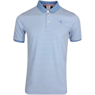 PUMA Golf Shirt - Arnold Palmer Stripe Polo - Light Blue AW21