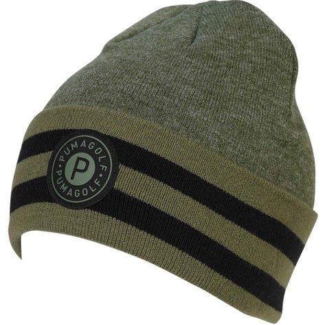 PUMA Golf Hat - P Circle Patch Beanie - Thyme AW20