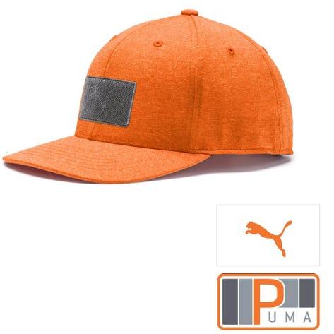 PUMA Golf Cap - Patch 110 Snapback - Vibrant Orange SS19