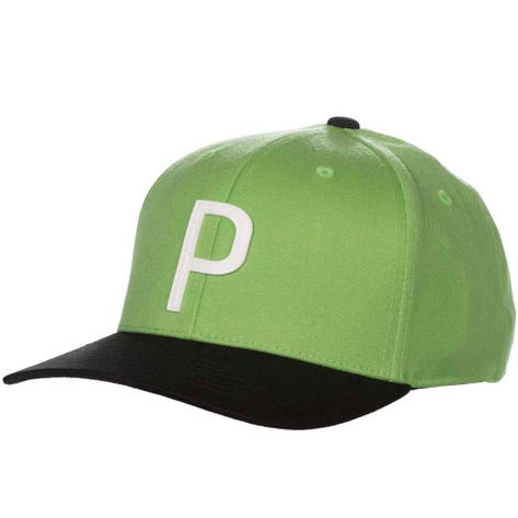 PUMA Golf Cap - Throwback P 110 Snapback - Irish Green SS19