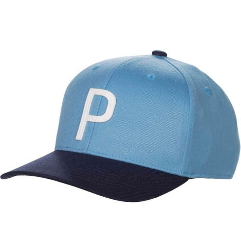 PUMA Golf Cap - Throwback P 110 Snapback - Azure Blue SS19