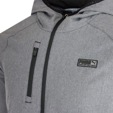 PUMA Golf Jacket - EGW Woven Hoodie - Black Heather AW21