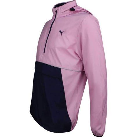 PUMA Golf Jacket - Retro Wind Hoodie - Pale Pink LE SS19