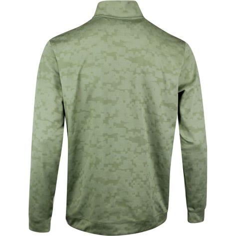 PUMA Golf Pullover - Alterknit Digi Camo QZ - Deep Lichen Green SS20