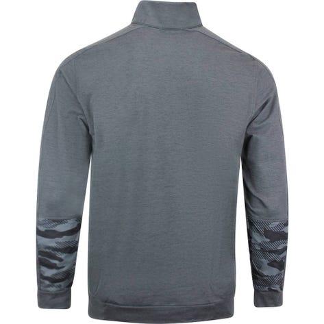 PUMA Golf Pullover - Cloudspun Camo QZ - Black Heather AW20