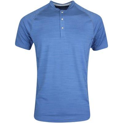 PUMA Golf Shirt - EGW Cloudspun Henley Polo - Federal Blue AW21