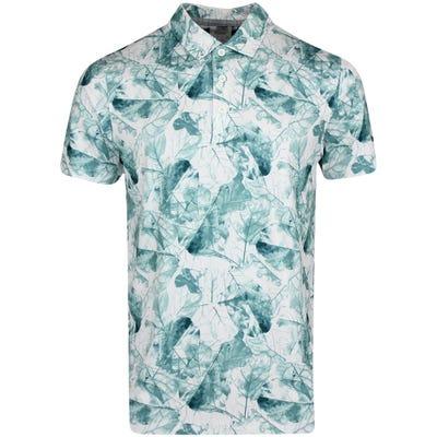 PUMA Golf Shirt - Cloudspun Leaves Polo - Deep Teal AW21