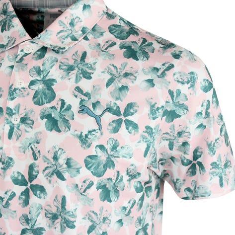 PUMA Golf Shirt - Cloudspun Plumeria Polo - Parfait Pink AW21