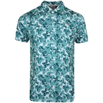 PUMA Golf Shirt - Cloudspun Plumeria Polo - Teal AW21