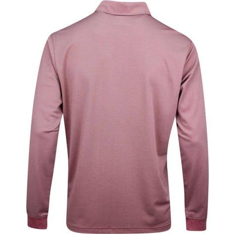 PUMA Golf Shirt - Long Sleeve Polo - Rhubarb Heather AW19