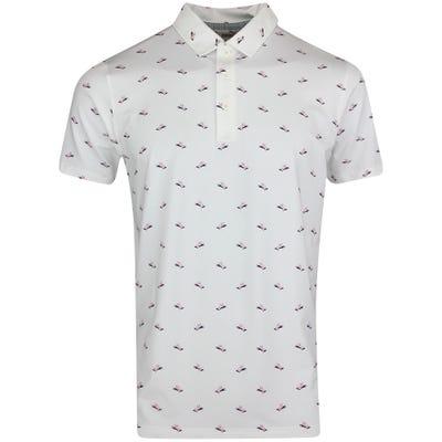 PUMA Golf Shirt - MATTR Paradise Polo - Bright White AW21