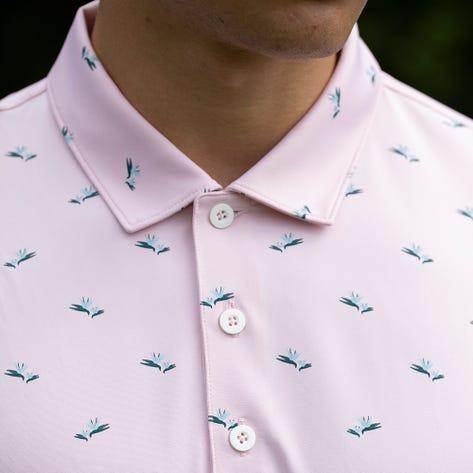 PUMA Golf Shirt - MATTR Paradise Polo - Parfait Pink AW21