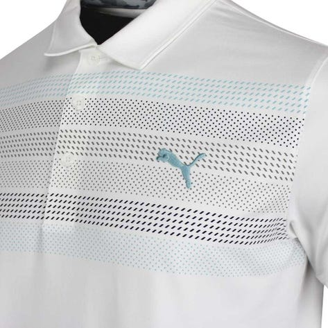 PUMA Golf Shirt - Road Map Polo - Bright White AW20