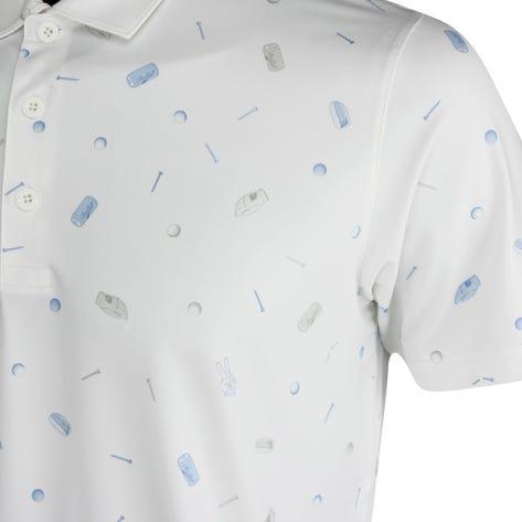 PUMA Golf Shirt - MATTR Snack Shack Polo - Bright White LE AW21