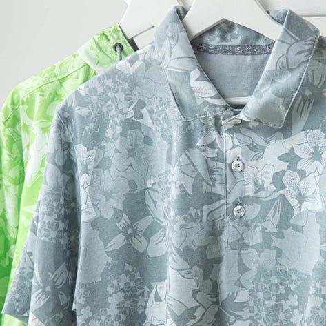 PUMA Golf Shirt - TournAMENt Polo - Quarry Print LE SS20