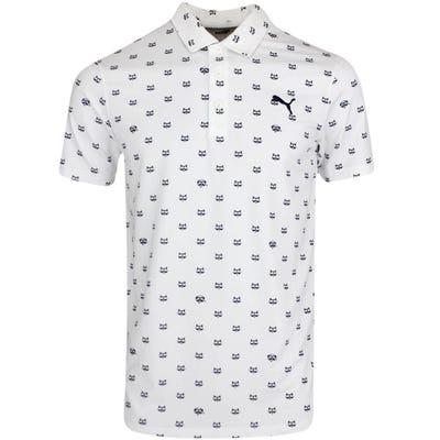 PUMA Golf Shirt - Cloudspun Bandit Polo - Bright White SS21