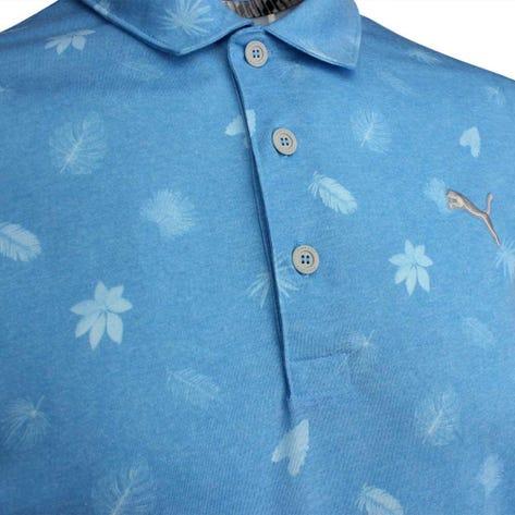 PUMA Golf Shirt - Verdant - Azure Blue LE SS19