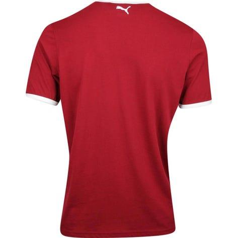 PUMA Golf T-Shirt - Ringer Tee - Rhubarb AW19