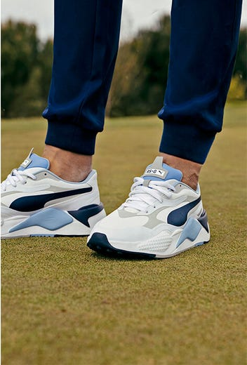PUMA Golf - White Blue Navy RS-G - July Drop 2021