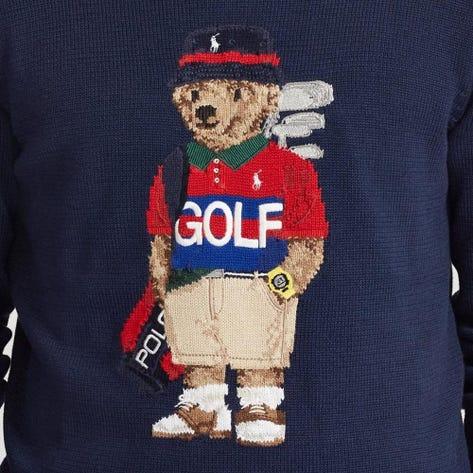 Ralph Lauren POLO Golf Jumper - CoolMax Bear Logo - French Navy FA20