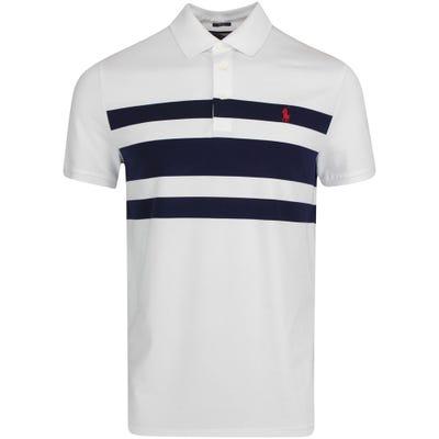 Ralph Lauren POLO Golf Shirt - Bold Stripe Pique - White FA21