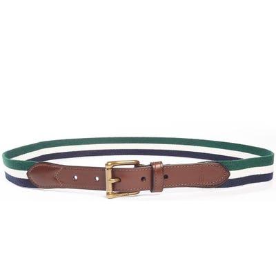 Ralph Lauren POLO Golf Belt - Stretch Web Stripe - Green SS21
