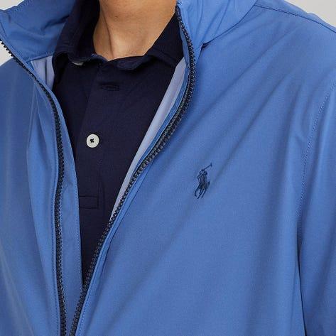 Ralph Lauren POLO Golf Jacket - Packable Hoodie - Bastille Blue FA21
