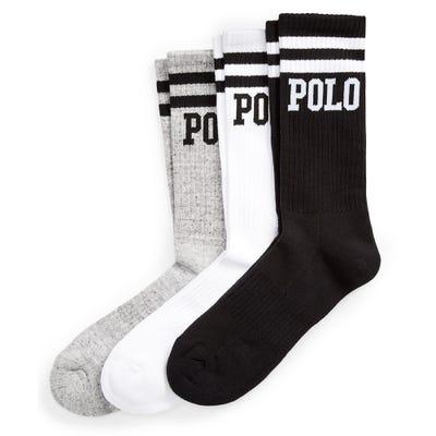 Ralph Lauren POLO Socks - Double Stripe Crew - Three Pack SS21