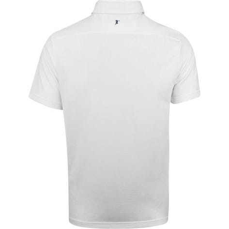 Justin Thomas POLO Golf Shirt - Tour Pique - White SS19