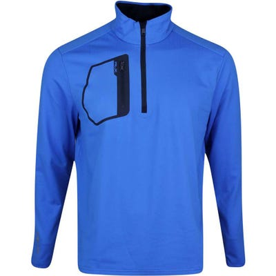 RLX Golf Pullover - Brushback Tech Jersey - Colby Blue SS21