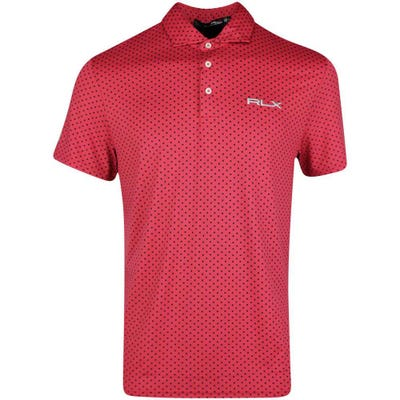 RLX Golf Shirt - Printed Airflow - Sunrise Red SS21