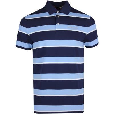 RLX Golf Shirt - Stripe Performance Pique - French Navy PS22