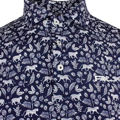RLX Golf Shirt - Printed Airflow - Jaguar Palms SS19