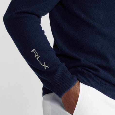 RLX Golf Pullover - Cashmere Knit Hoodie - French Navy PS22