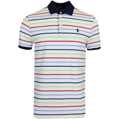 Ralph Lauren POLO Golf Shirt - Stripe Pique - White Multi SU21