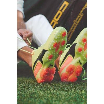 Rickie Fowler - Pink Yellow PUMA Golf Shoes - St Jude Invitational