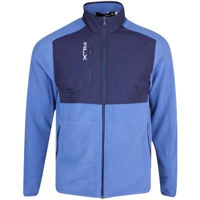 RLX Golf Jacket - Icon Fleece Hybrid - Bastille Blue FA21