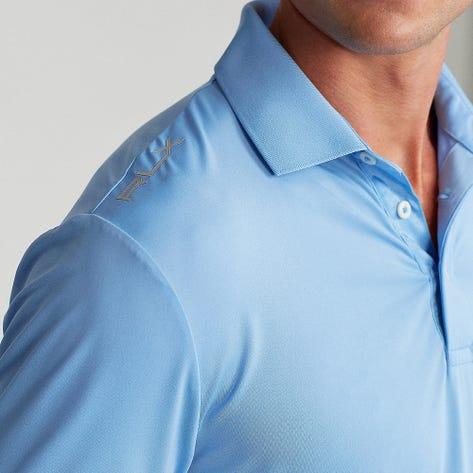 RLX Golf Shirt - Solid Airflow - Blue Lagoon FA21