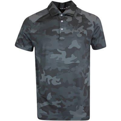 RLX Golf Shirt - Camo Airflow - Polo Black FA21