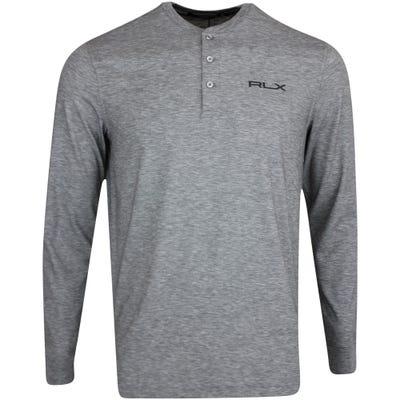 RLX Golf Pullover - Stretch Henley LS Hybrid - Boulder Grey FA21