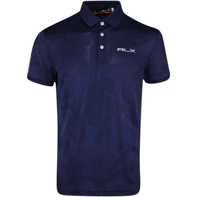 RLX Golf Shirt - Camo Jacquard - French Navy SS21