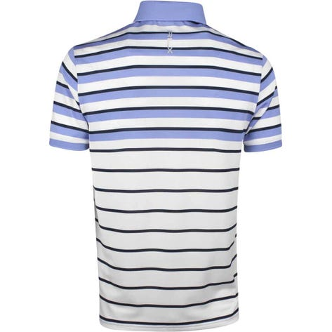 RLX Golf Shirt - YD Multi Stripe Pique - Pure White SS19
