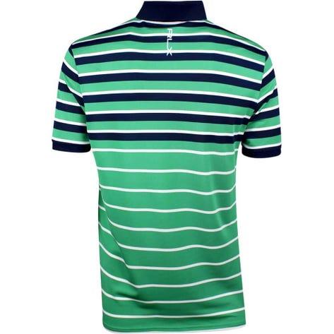 RLX Golf Shirt - YD Multi Stripe Pique - Raft Green SS19