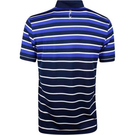 RLX Golf Shirt - YD Multi Stripe Pique - French Navy SS19
