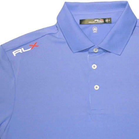 RLX Golf Shirt - Solid Airflow - New England Blue SS19