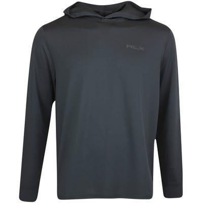 RLX Golf Pullover - Performance Mesh Hoodie - Black FA21