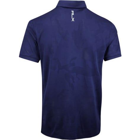 RLX Golf Shirt - Camo Jacquard - French Navy AW19