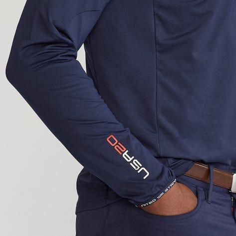 RLX Ryder Cup Golf Pullover - Brushback Tech Jersey - Team USA 2021