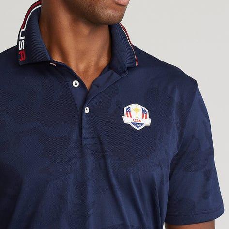 RLX Ryder Cup Golf Shirt - Camo Jacquard - Team USA 2021