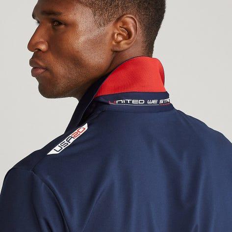 RLX Ryder Cup Golf Shirt - Striped Airflow - Team USA 2021